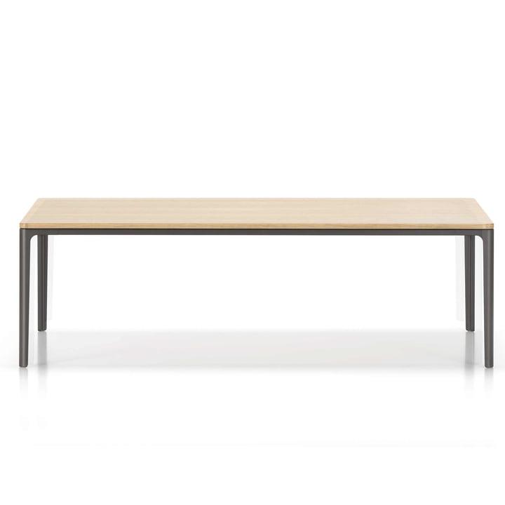 Der Vitra - Plate Table 370 x 1200 x 400 mm, Gestell: chocolat , Tischplatte: Eiche natur massiv, geölt