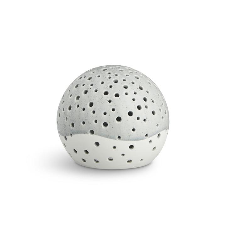 Nobili Teelichtleuchter Kugel Ø 12 cm von Kähler Design in Grau