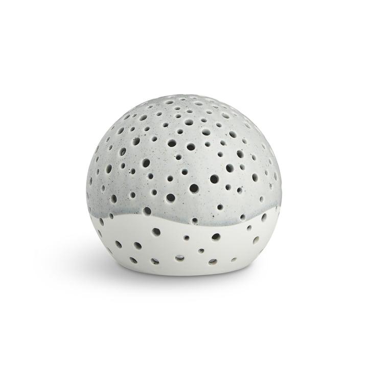 Nobili Teelichtleuchter Kugel Ø 14 cm von Kähler Design in Grau