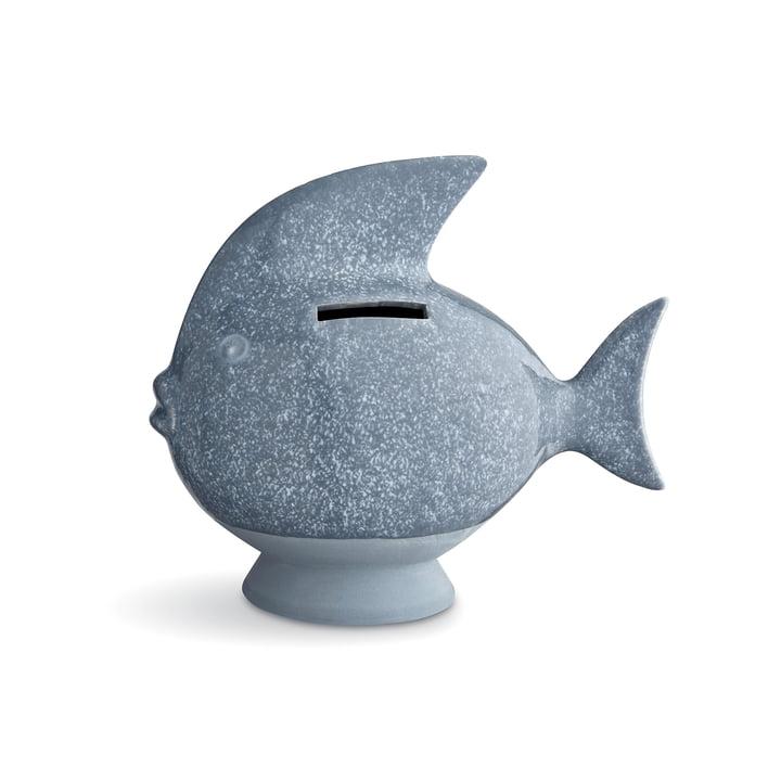 Spardose Fisch von Kähler Design in Graublau