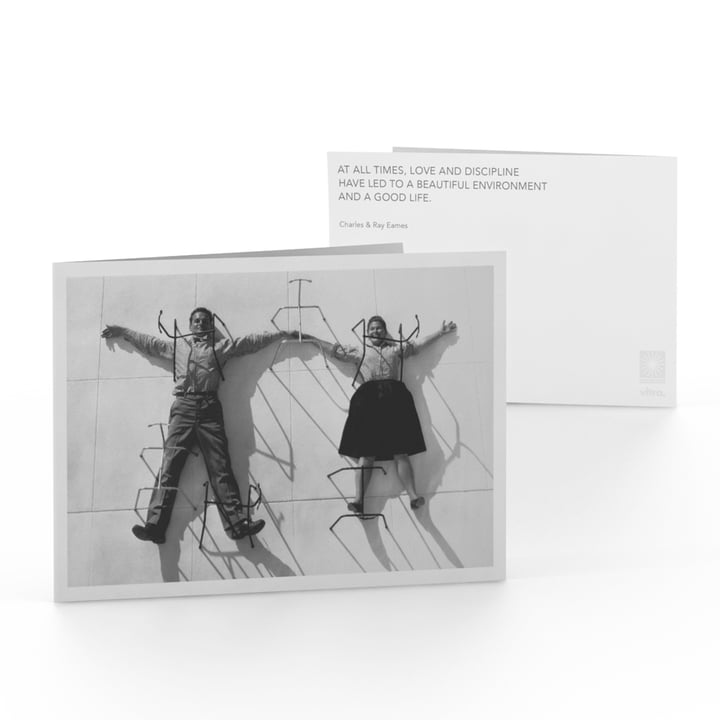 Eames Quotes Greeting Card Love and Discipline von Vitra
