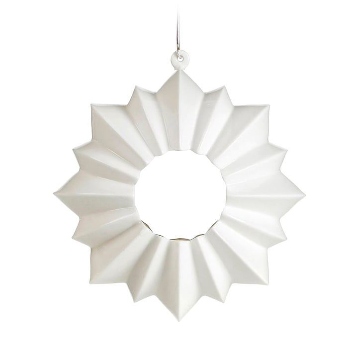 Stella Teelichthalter Ø 13,5 cm hängend von Kähler Design in Weiß