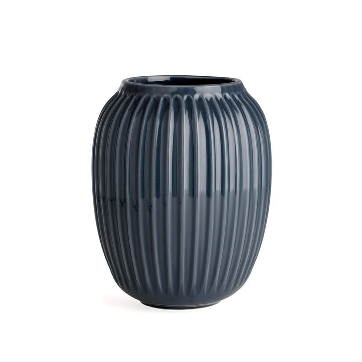 Hammershøi Vase H 20 cm von Kähler Design in Anthrazit