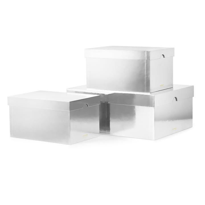 Die Normann Copenhagen - Metallic Boxes in silber (3er-Set)