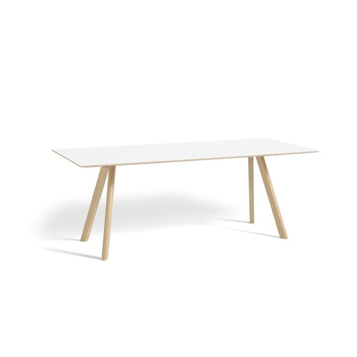 Copenhague CPH30 Esstisch 200 x 90 cm von Hay in Eiche matt lackiert / Tischplatte Laminat weiß