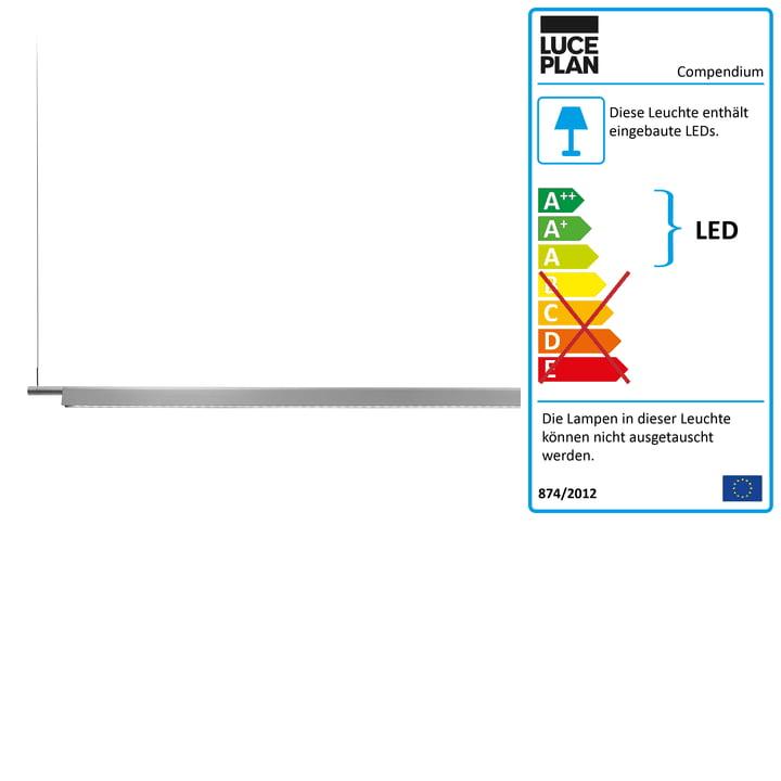 Luceplan - D81 Compendium LED Pendelleuchte, aluminium