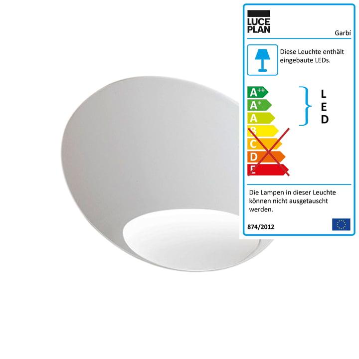 Die Luceplan - Garbí LED Wandleuchte in weiß