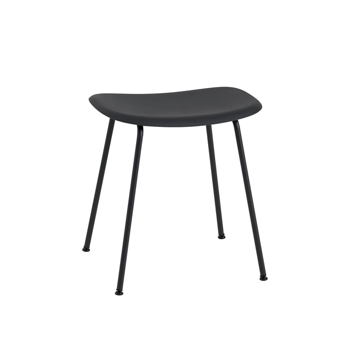 Fiber Hocker Tube Base von Muuto in schwarz