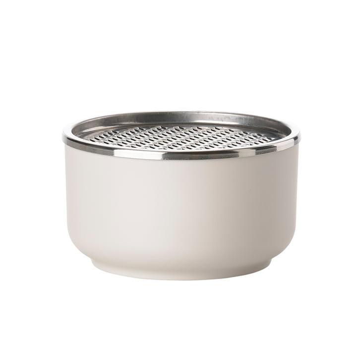 Die Zone Denmark - Peili Schale mit Reibe in warm grey