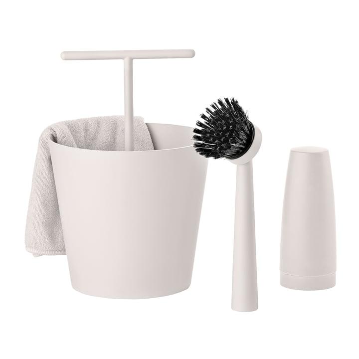 Das Zone Denmark - Bucket Geschirrspülset in warm grey (4-teilig)