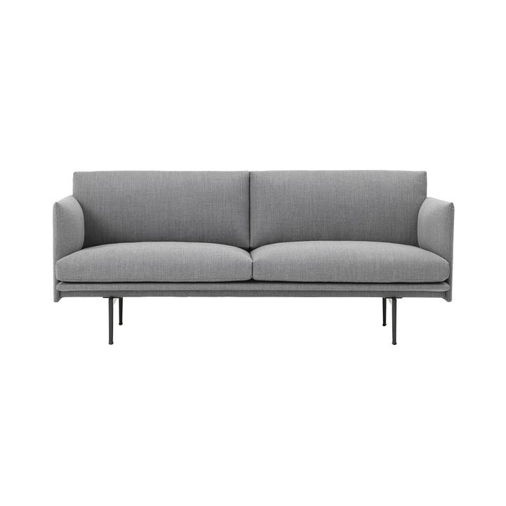 Outline Studio Sofa 2-Sitzer von Muuto in Fiord 151/ Schwarz