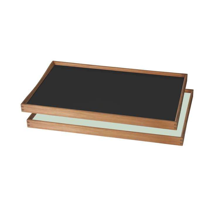 ArchitectMade - Tablett Turning Tray, 30 x 48 cm, schwarz / grün