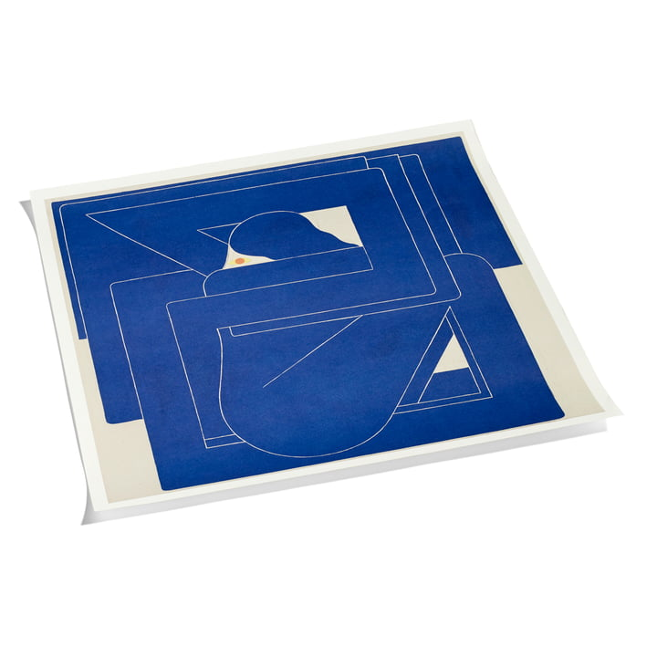 Square by Richard Colman Poster 70 x 70 cm von Hay in Blau