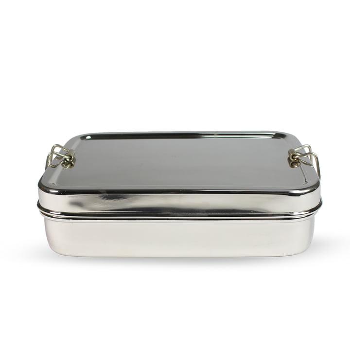 Stahl Lunchbox rechteckig mit extra Box von Hay