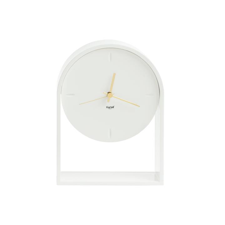 Die Kartell - Air du Temps Tischuhr in weiß