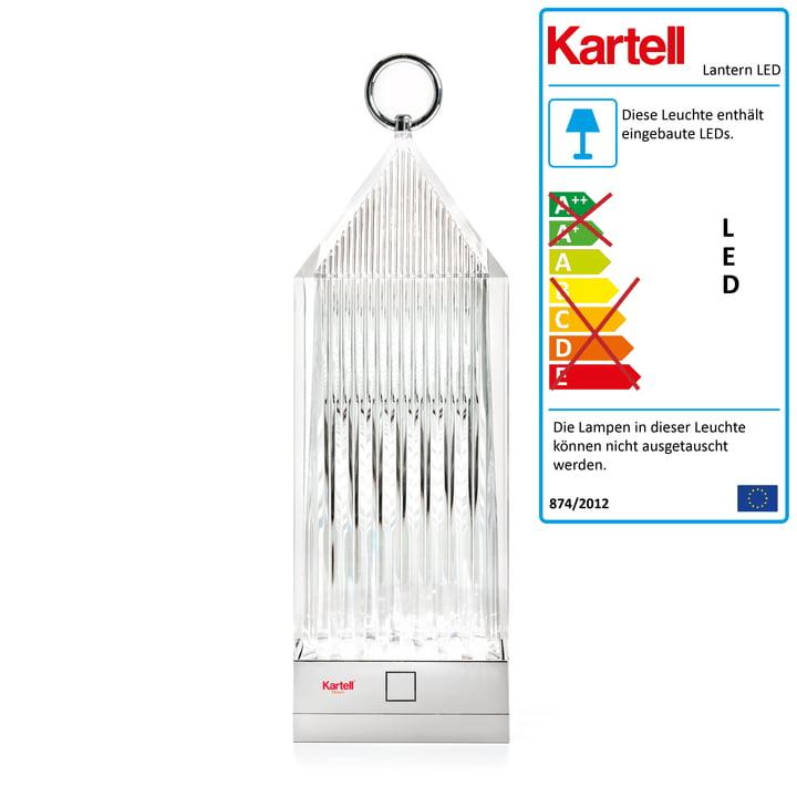 Die Kartell - LanternLED-Leuchte, glasklar