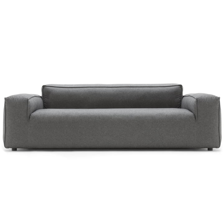175 Sofa 3-Sitzer von freistil (Seitenteil niedrig) mit Bezug in Graphitgrau (5246)