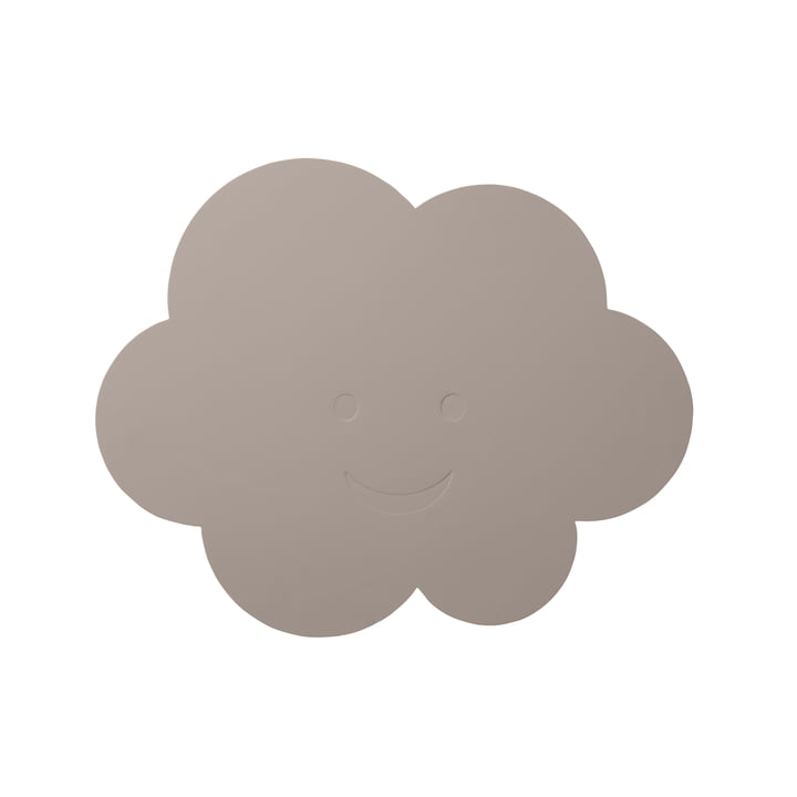 Kinder-Tischset Wolke von LindDNA in Softbuck cool grey