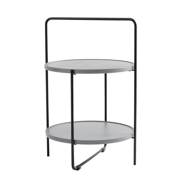 Andersen Furniture - Beistelltisch Ø 46 cm, schwarz / Esche grau lackiert