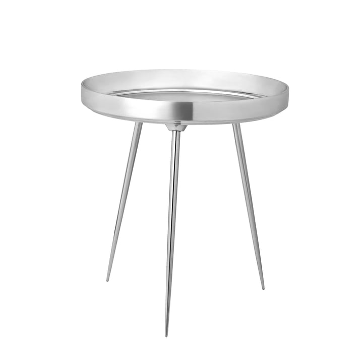 Bowl Table medium Ø 46 x H 52 cm von Mater aus Aluminium poliert