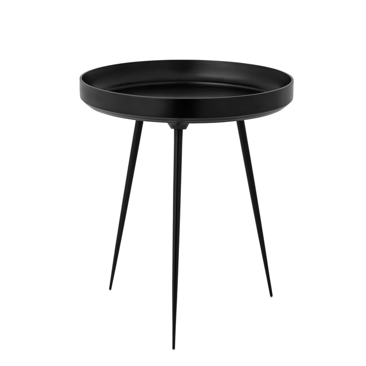 Bowl Table medium Ø 46 x H 52 cm von Mater aus Aluminium in Schwarz