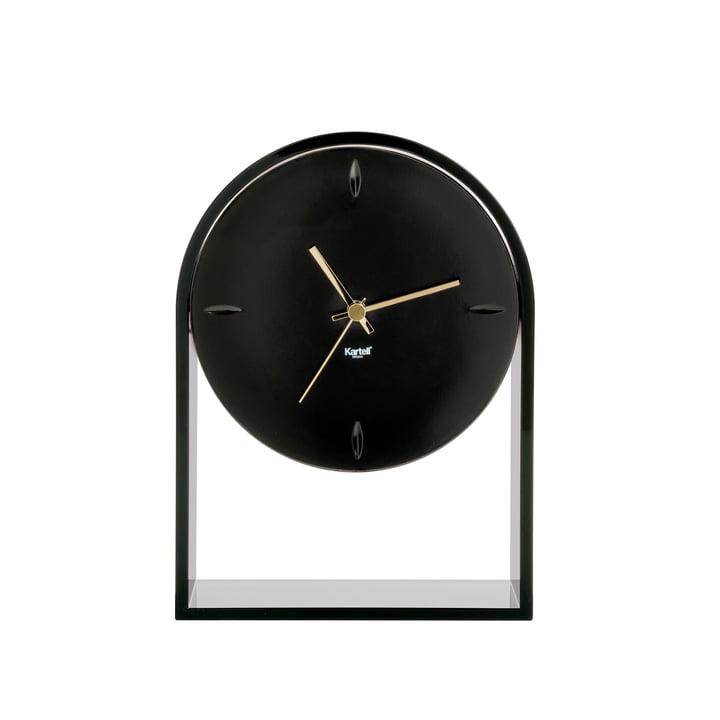 Air du Temps Tischuhr von Kartell in Schwarz