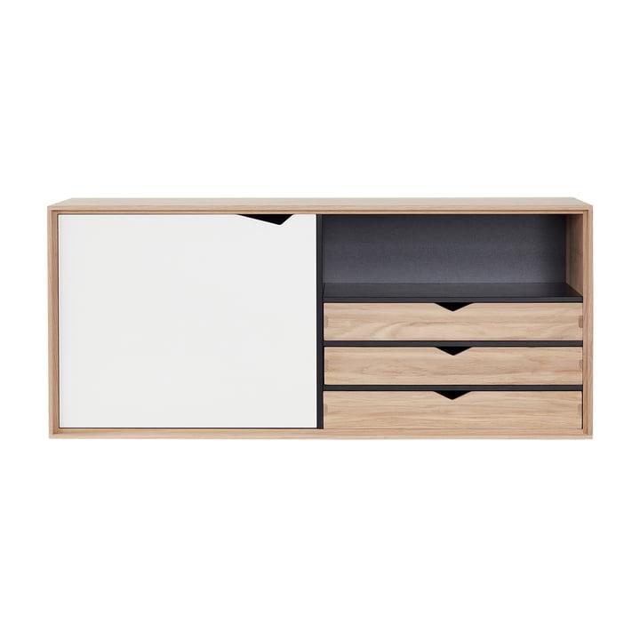 Das Andersen Furniture - S2 Hängemodul mit 1 Tür und 3 Schubkasten