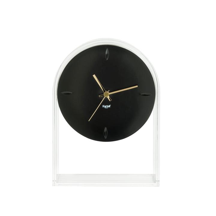 Air du Temps Tischuhr von Kartell in Glasklar/ Schwarz