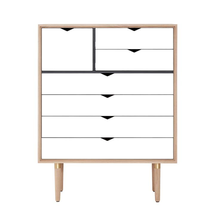 Die Andersen Furniture - S8 Kommode, Eiche geseift / Fronten weiß