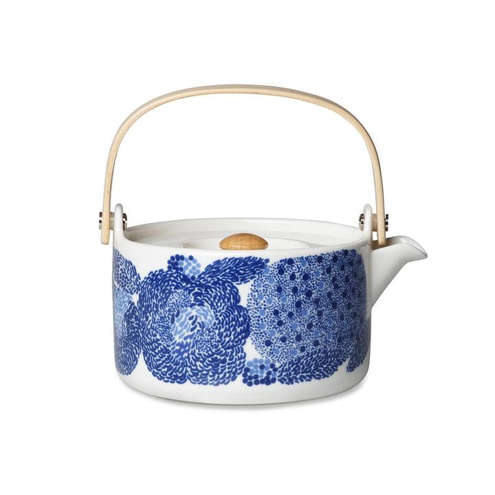 Oiva Mynsteri Teekanne von Marimekko in Blau / Weiß
