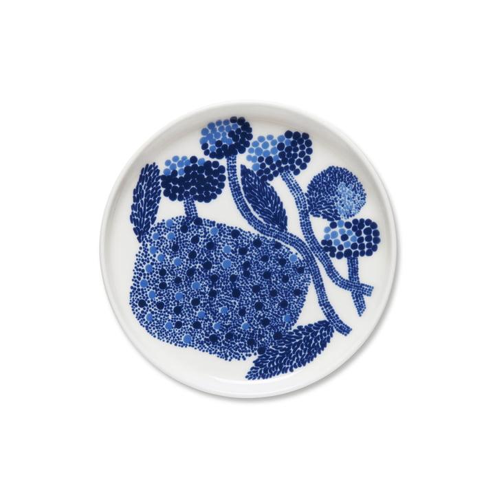 Der Marimekko - Oiva Mynsteri Teller, Ø 13.5 cm in blau / weiß