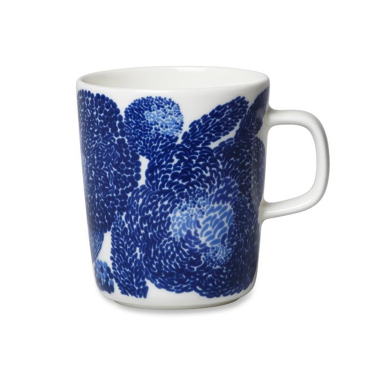 Der Marimekko - Oiva Mynsteri Becher mit Henkel, 250 ml in blau / weiß