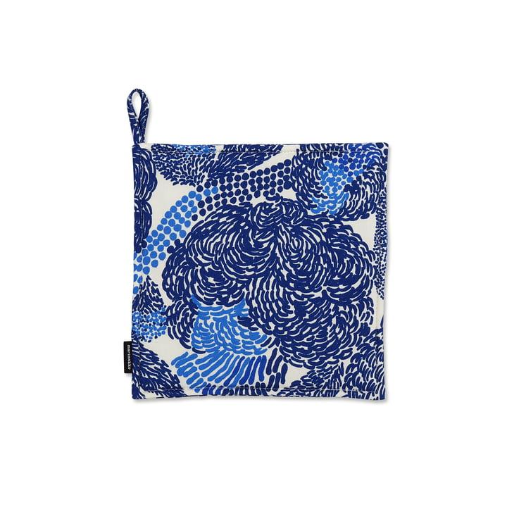 Der Marimekko - Mynsteri Topflappen in blau / weiß