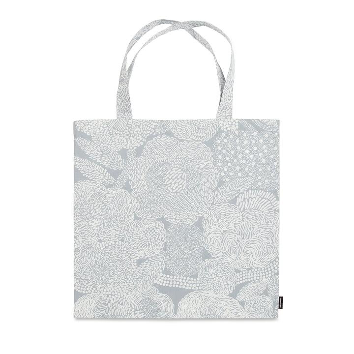 Die Marimekko - Mynsteri Einkaufstasche in grau / weiß