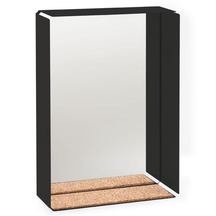 Der Konstantin Slawinski - Mirror-Box Spiegel, Korpus schwarz / Kork