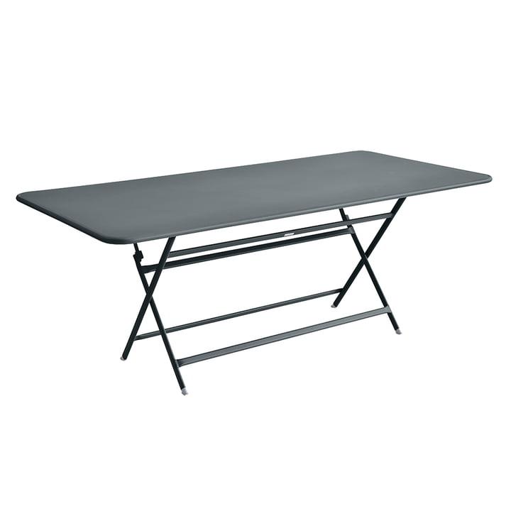 Der Fermob - Caractère Tisch, 190 x 90 cm in gewittergrau