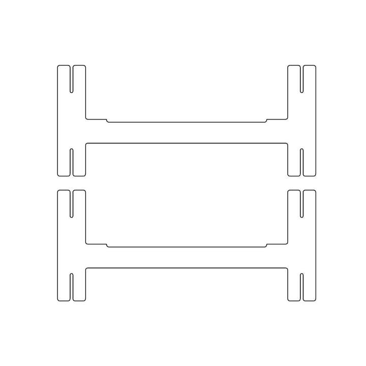Kaether & Weise - Plattenbau, weiß - Mittel-Traverse 40cm (2er Set)