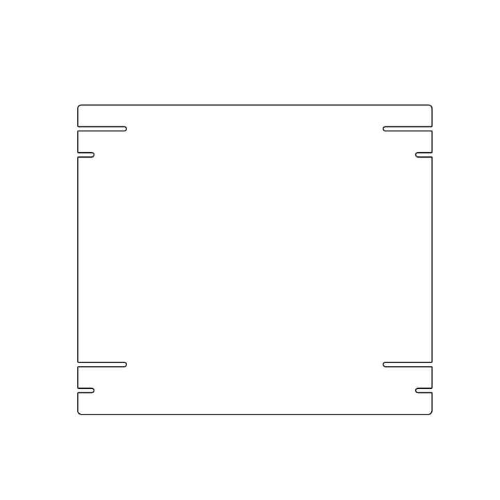 Kaether & Weise - Plattenbau, weiß - Einlegeboden