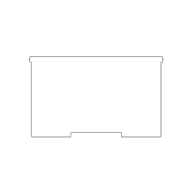 Kaether & Weise - Plattenbau, weiß - Frontklappe 40cm, Fachhöhe: 25cm