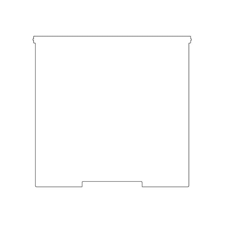 Kaether & Weise - Plattenbau, weiß - Frontklappe 40cm, Fachhöhe: 40cm