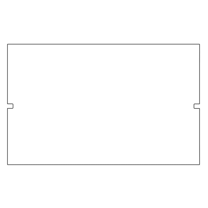 Kaether & Weise - Plattenbau, weiß - Rückwand 62cm, Fachhöhe: 35cm
