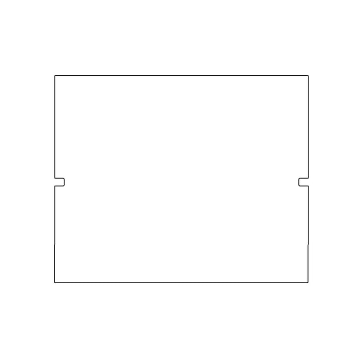 Kaether & Weise - Plattenbau, weiß - Rückwand 40cm, Fachhöhe: 35cm