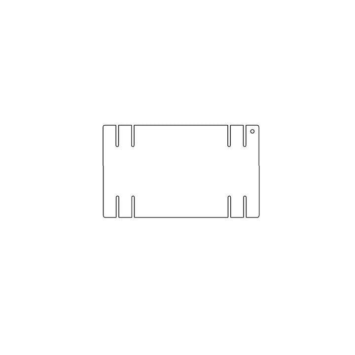 Kaether & Weise - Plattenbau, weiß - Seitenwand 22cm, Fachhöhe: 15cm