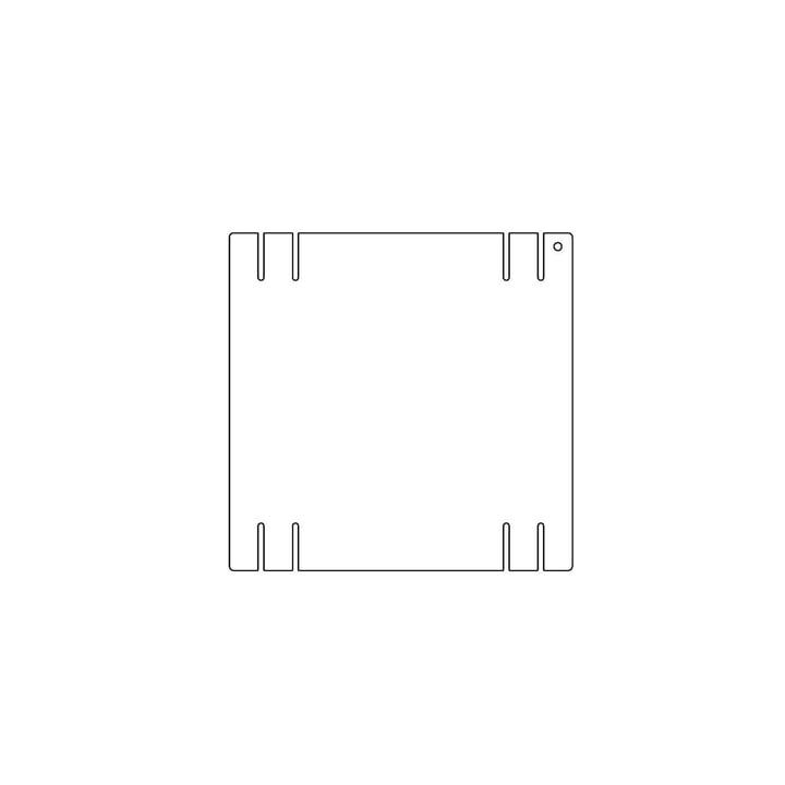 Kaether & Weise - Plattenbau, weiß - Seitenwand 22cm, Fachhöhe: 25cm