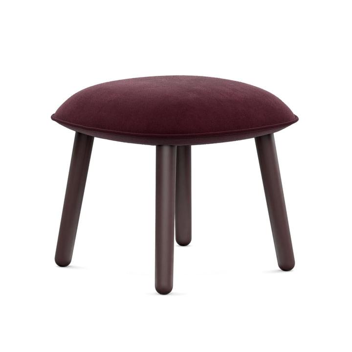 Der Normann Copenhagen - Ace Footstool Velour in dark red