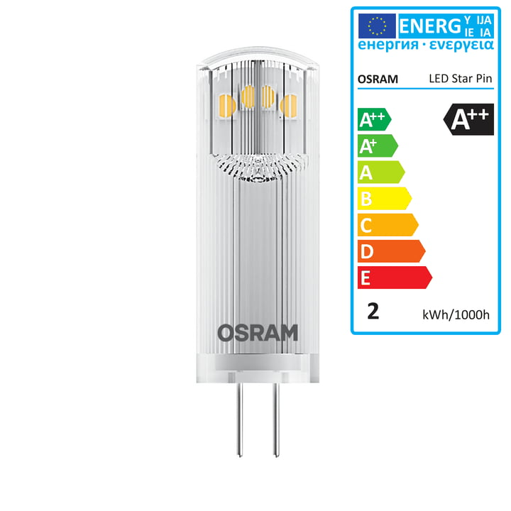 Osram - Star Pin 20 LED Leuchtmittel, G4 / 12 V, 1,8 W, Warmweiß