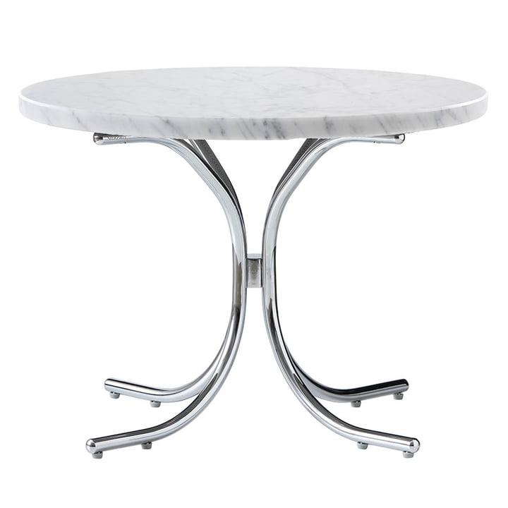 Modular Tisch Ø 50 x H 36 cm von Verpan in Marmor Weiß