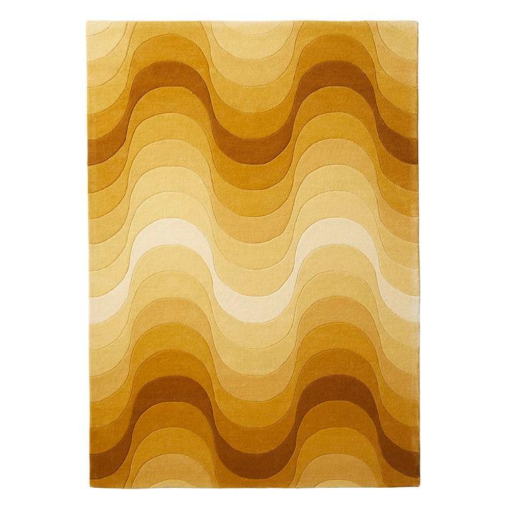 Der Verpan - Wave Teppich, 240 x 170 cm in gelb