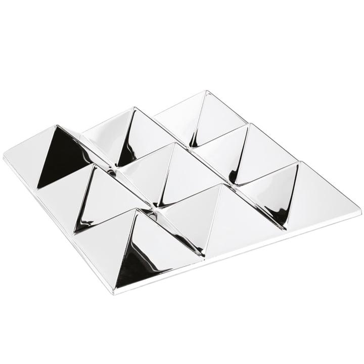 Die Verpan - Mirror Sculptures, 9 Pyramids, silber / verspiegelt