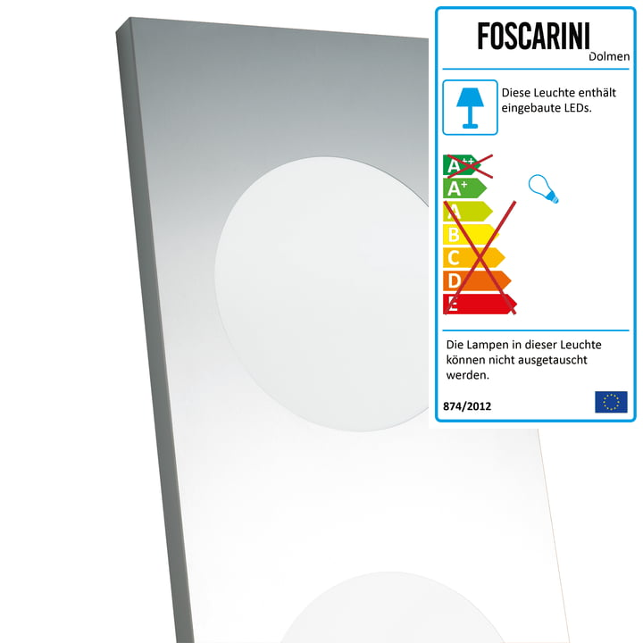 Dolmen Stehleuchte LED von Foscarini in Aluminium